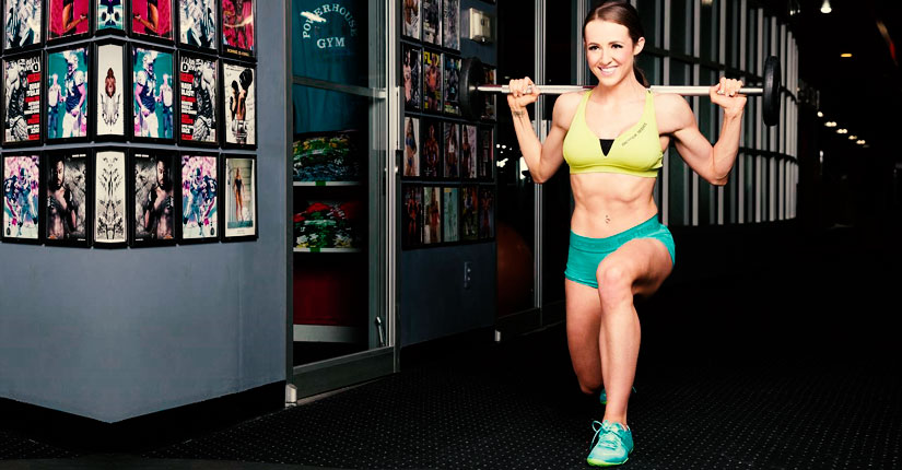 Courtney King lunges